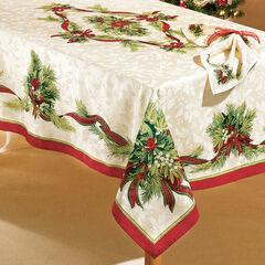 "Christmas Ribbons Tablecloth 52"" x 70"","