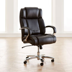 Extra Wide Chrome Finish Office Chair,