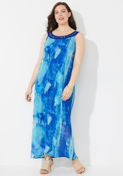 Watercolor Maxi Dress,