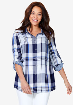Plaid Mix Buttondown,