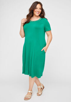 Elysian Heights A-Line Dress (With Pockets),