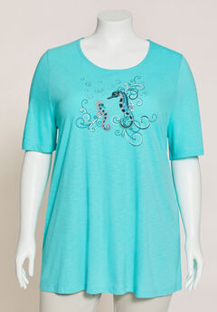 Sparkling Seahorse Swing Tunic,
