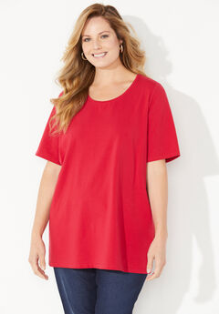 Ultra-Soft Scoopneck Tee,