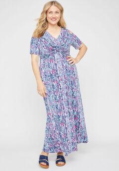 Vineyard Twist-Knot Maxi Dress,