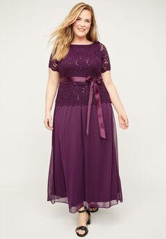 Refined Sparkle & Lace Dress,
