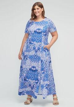 Kaleidoscope Sky Maxi Dress (With Pockets),