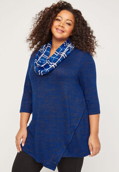 ComfySoft Button Bliss Duet Scarf Tunic,