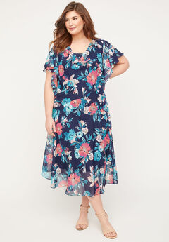 Parker Acres Fit & Flare Dress,