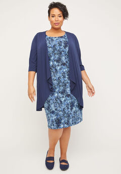 Ocean Bloom Jacket Dress,