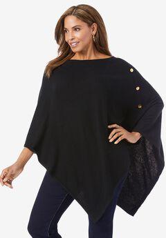 Button-front sleeveless trapeze shirt dress,