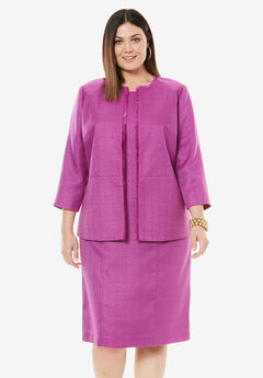 Tweed Jacket Dress, RADIANT ORCHID