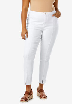 Front Seam Ankle Jean, WHITE