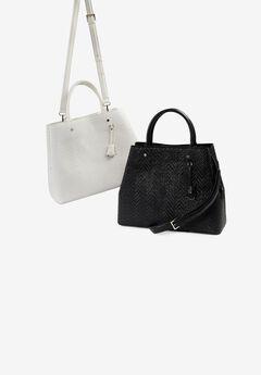 Square Crossbody Bag, WHITE