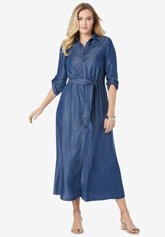 Tencel® Maxi Dress,