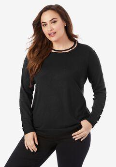 Pearl-Trim Sweater,