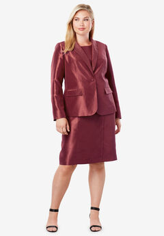 Jewel Jacket Dress, BURGUNDY