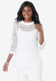 Open-Stitch Pattern Sweater,