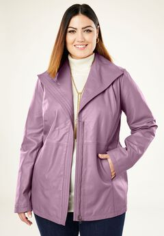 Wing Collar Leather Jacket,