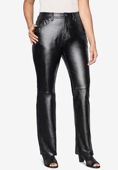 Leather Pants, BLACK, hi-res