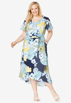 5cac81d05 Faux Wrap Hi-Low Maxi Dress. Jessica London