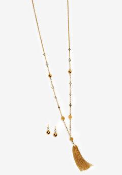 Tassel Necklace & Earring Set,