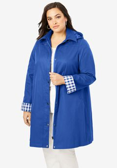 A-Line Hooded Raincoat, TRUE BLUE