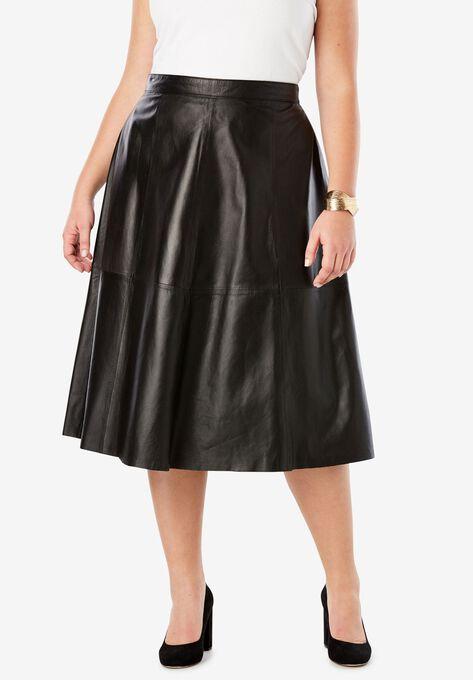 c71ee5073b Leather Midi Skirt| Plus Size Skirts | Roaman's