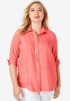 Soft Button Front Shirt,