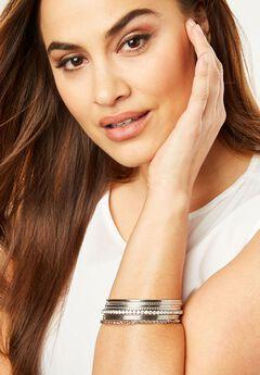 Silver Bangle Bracelet,
