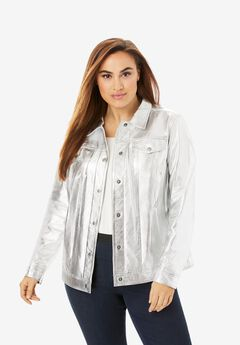 Denim Style Leather Jacket,