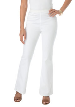 Bootcut Stretch Denim Jeggings, WHITE TWILL