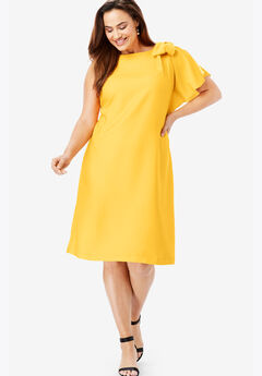 Bow Sleeve Dress,