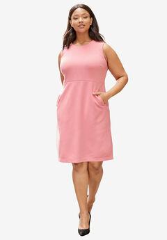 Ponte Sheath Dress, BEGONIA, hi-res