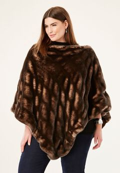 Faux Fur Poncho by Donna Salyers Fabulous-Furs®,