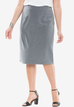 Bi-Stretch Skirt, CHARCOAL GREY, hi-res