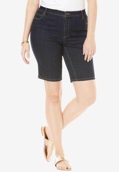5-Pocket Denim Shorts, INDIGO, hi-res