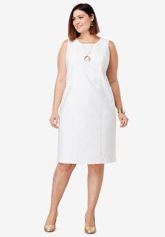 Tummy Control Bi-Stretch Sheath Dress,