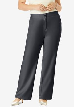 Tummy Control Bi-Stretch Bootcut Pant, DARK CHARCOAL