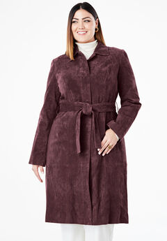 16f05d11924 Suede Trench Coat. Jessica London