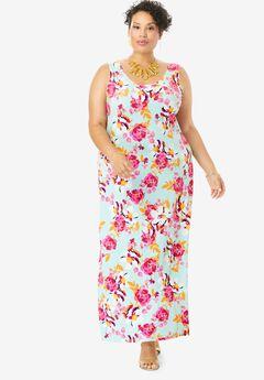 Sleeveless Maxi Dress,
