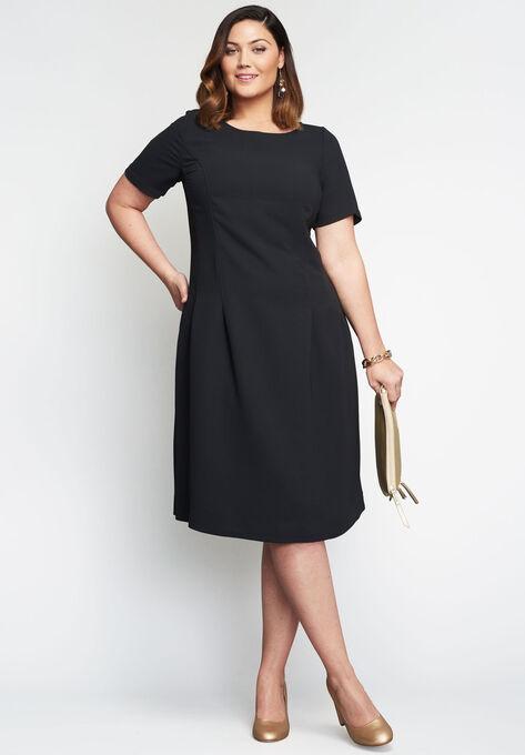 Fit & Flare Dress | Plus Size Work Dresses | Roaman\'s