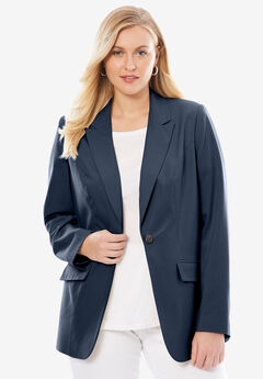 Bi-Stretch Blazer, NAVY, hi-res