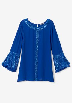 Sequin Trim Tunic,