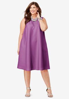 Back Pleat Dress,