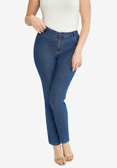 True Fit Straight Leg Jeans,