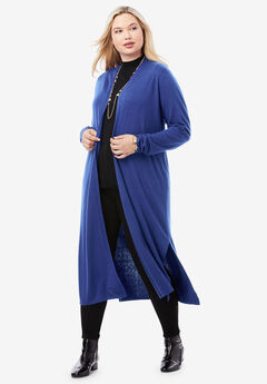 Cotton Cashmere Duster Sweater,