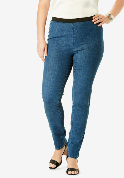 829b3144ed1 Straight Leg Stretch Denim Jeggings
