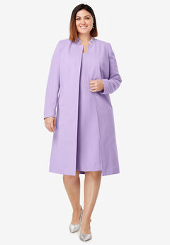 Embellished Coat and Dress Suit, BRIGHT LILAC