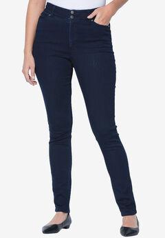 Tummy-Control Skinny Jeans, INDIGO