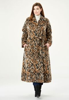Wool-Blend Wrap Coat,